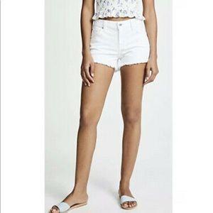 Madewell White Cut Off Raw Hem Denim Jean Shorts